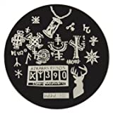 hehe Stainless Geometric Nail Image Stamp Stamping Plates Template (Color : #06)