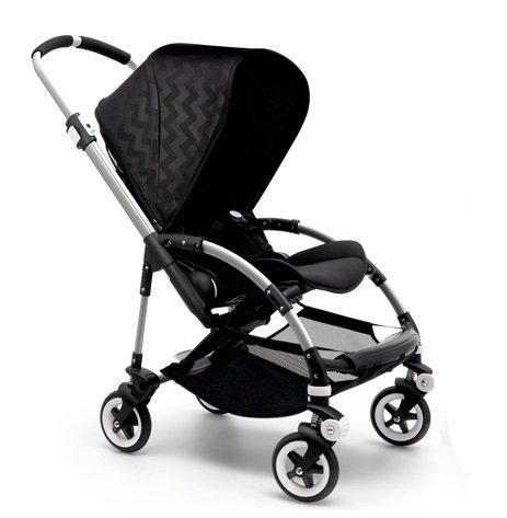 Bugaboo Bee 3 Shiny Chevron Black Special Edition Stroller (Aluminum Frame)