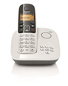 Gigaset A495 White Cordless Landline Phone with Answering Machine