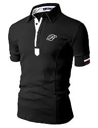 Doublju Mens Casual Short Sleeve Polo…