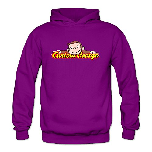 Curious George Women's Long Sleeve Hoodieds Purple US Size XXL