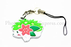 Pokemon Toy Double-sided Metal Phone Charm Strap with Mini Snap Hook - Shaymin