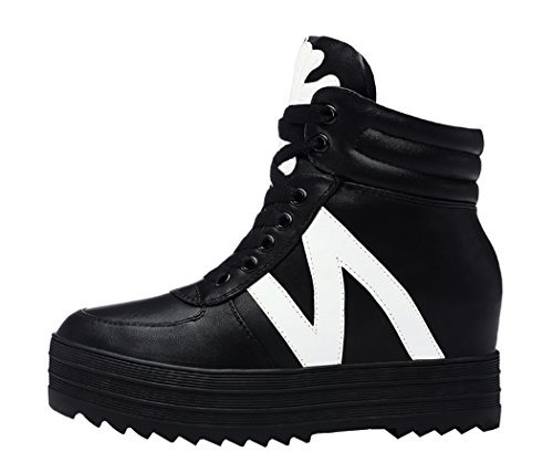 Guciheaven Women Winter New Style Casual Pantshoes Ankle Boots(8 B(M)Us, Black)
