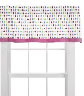 Bacati - Botanical Sanctuary Pearl String Multicolor Pink Valance