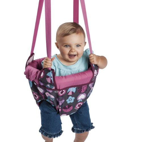 New Evenflo Jenny Jump Up Doorway Jumper, Pink Bumbly