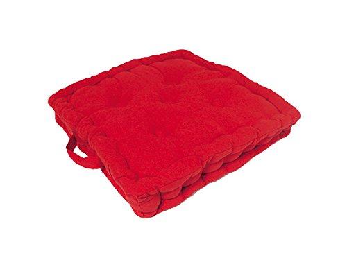 Cuscino materasso per sedia in cotone PANAMA rosso