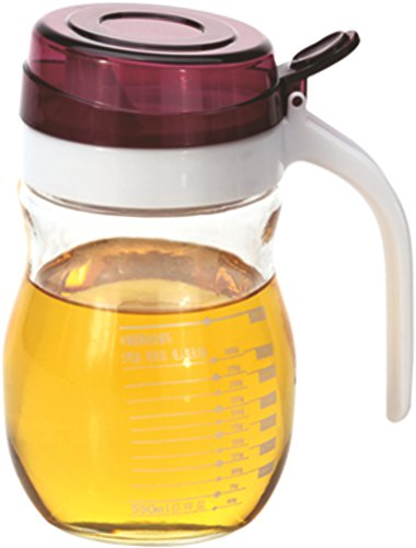 Wonderchef Glass Oil Pourer, 550ml, Transparent/Red
