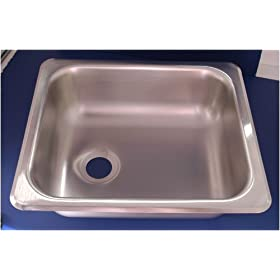 "12-1/4"" X 14-1/8"" Stainless Steel RV Sink"