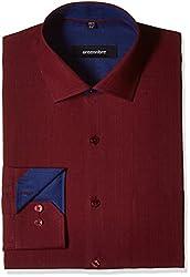 Greenfibre Men's Formal Shirt (DPJK_42_Maroon)