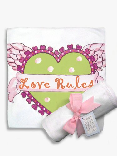 Light of Mine Designs Love Rules Receiving/Swaddling Blanket