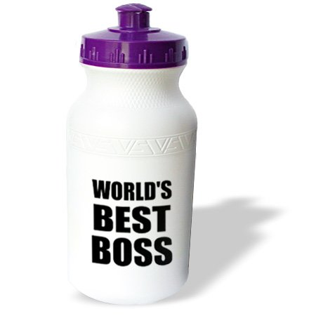 Wb_194437_1 Inspirationzstore Typography - Worlds Best Boss In Black - Great Text Design For The Greatest Boss - Water Bottles back-395160