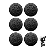 Grip-iT Analog Stick Covers for PS4, PS3, Xbox One, & Xbox 360 (6-Pack Black)
