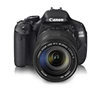 Canon EOS 600D Kit EF-S 18-135 IS 18.0MP Digital SLR Camera (Black) with 4GB SD Card, Camera Bag
