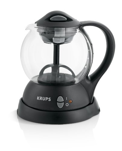 Krups Fl701850 Personal Tea Kettle With Integrated Infusion Basket For Loose Tea Leaves And Tea Bags, Black