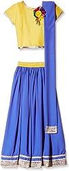 Atayant Girl Lehenga Choli (ATAYK_041_5:6YR_Gold:Blue_XL)