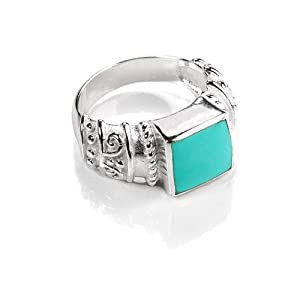 FOJO's Gothic Inspired Turquoise Ring - 8