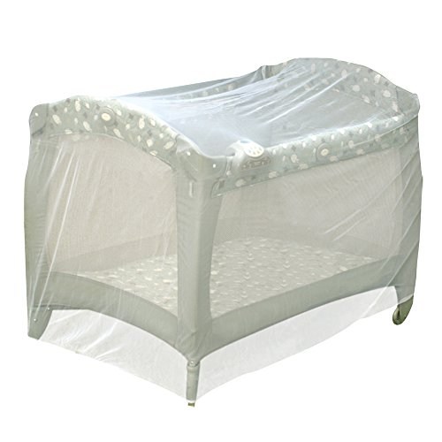 Jeep Baby Playpen Netting, Universal Size, White, Pack N Play Mosquito Net Tent, Play Yard Kid Insect Mesh Cover (Playpen Cover compare prices)