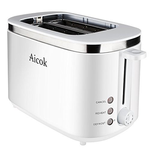 Aicok 2 Slice Cool Touch Toaster with Wide Slot and Manual High-Lift Lever, Rapid Toast (Toast Oven White compare prices)