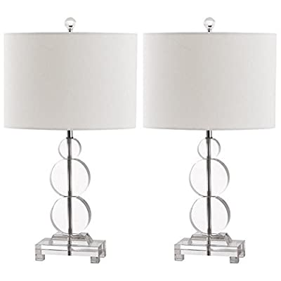 Safavieh Lighting Collection Moira Crystal 23-inch Table Lamp (Set of 2)