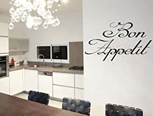 bon appetit vinyl sticker kitchen decor wall