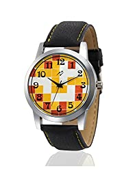 Yepme Chez Mens Watch - Yellow/Black -- YPMWATCH1472