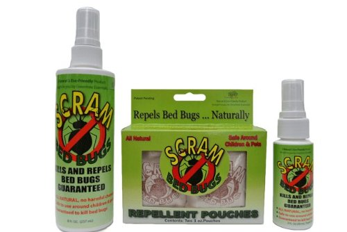 Scram Bed Bug Travelers Kit (Bed Bug Spray and Bed Bug Travel Pouches)
