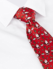 Machine Washable Father Christmas Tie