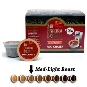 San Francisco Bay Coffee OneCup for Keurig K-Cup Brewers, Fog Chaser, 8-Count