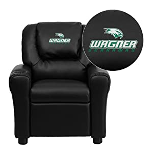 Flash Furniture Wagner College Seahawks Embroidered Black Vinyl Kids Recliner with... by Flash Furniture