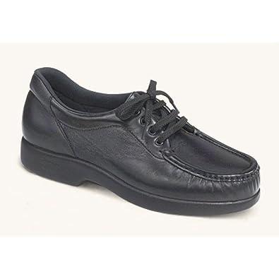 SAS Take Time Women's Leather Shoes, Black, 7.5 M