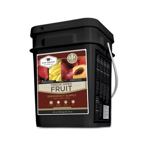 Wise Foods 152 Servings Gluten Free Freeze Dried Fruit, Black