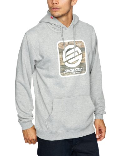 SANTA CRUZ Woodbox Hood Men's Sweatshirt Heather Grey Small