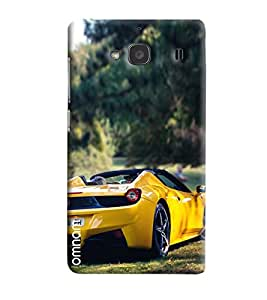Omnam Yellow Sports Car Back Printed Designer Back Cover Case For Xiaomi Redmi 2s
