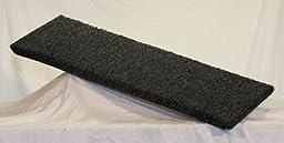 Carpeted Wall Mounted Cat Shelf (Dark Grey, Large 30\
