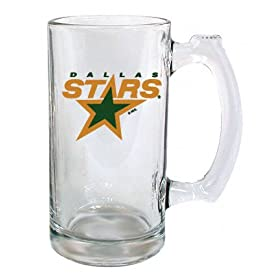 Dallas Stars Beer Mug: 13oz Glass Sports Tankard