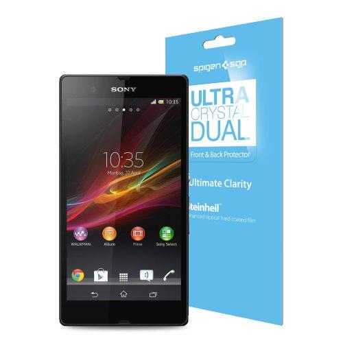 国内正規品SPIGEN SGP Sony Xperia Z SO-02E シュタインハイル Dual ウルトラ・クリスタル[液晶保護フィルム前面・背面セット]SGP10146