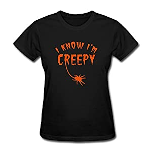 Graphic Halloween Spider Lady's Tshirt Short Sleeve