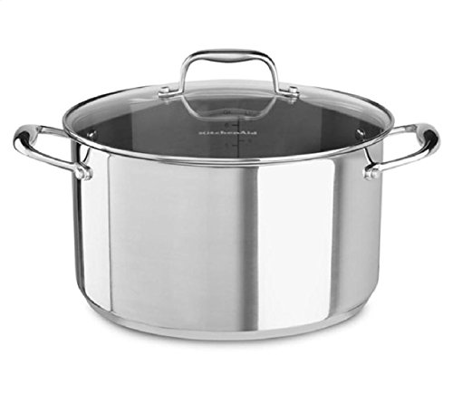KitchenAid KCS60LCLS Stainless Steel 6.0-Quart Low Casserole with Lid Cookware - Polished Stainless Steel (Stainless Steel Casserole Pan compare prices)