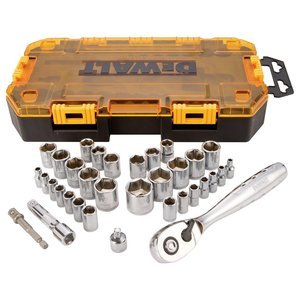 DEWALT 34 piece 1/4 In. & 3 stanley ds250 dewalt tough system 4 in 1 dwst1 70 728