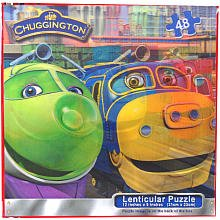 Chuggington 48 piece Trains Leaving the Station Lenticular Puzzle - 1