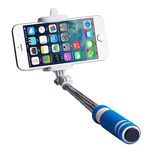 Mini Super, Selfie Stick Cocases piccola tasca con monopiede, Selfie Stick [] portatile estensibile con manico antiscivolo, Non compatibile con iPhone 6 Plus, 6, 6s, 6 Plus, 5, 5s, 5C, Samsung Galaxy, S6 Edge, S6, S5, S4, Note, 5, 4, 3, LG, HTC One, Huawei, Xiaomi