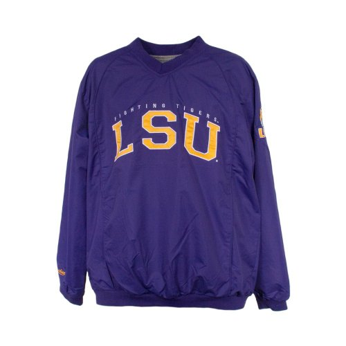LSU Tigers NCAA Coach Windshell Pullover Jacket by MTC Marketing (Purple-Gold)(Size=X-LARGE) at Amazon.com