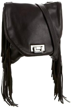 Tylie Malibu Women's Jetset Kramer JSK1507 Fringe Cross Body Bag,Brown,One Size
