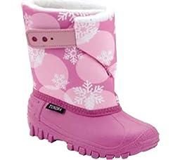 Tundra Teddy Winter Boot (Toddler/Little Kid), Fuschia/Snow Flakes, 12 M US Little Kid
