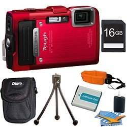 Olympus TG-830 iHS STYLUS Tough 16 MP 1080p HD Digital Camera Red 16GB Kit Review