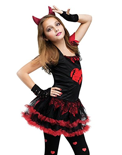 [Fun World Devil Diva Girl's Costume Red/Black Small (4-6)] (Red Devil Child Costume)