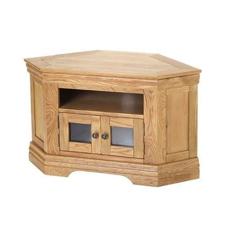 Breton Rustic Oak Corner TV Cabinet - Furniture