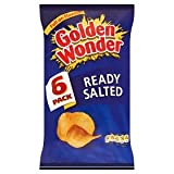 Golden Wonder Ready Salted Crisps 6 Pack 150g