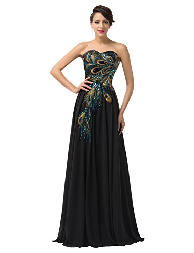 Edith-Windsor-Womens-Strapless-Peacock-Embroidered-Chiffon-Evening-Dress