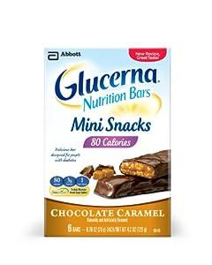 Glucerna Mini Snack Nutrition Bars, Chocolate Carmel, 0.70-Ounce, 36 Count